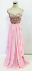 BETSY amp; ADAM Pink Evening Formal Prom Gown 8 $240 NWT $58.77