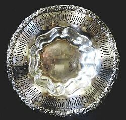 Centerpiece Bowl, Silverplate, Eg Webster And Son, Egwands, Rococo, 13d, C1930