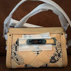 Coach Swagger 21 Exotic Embossed Patchwork Leather Crossbody Bag