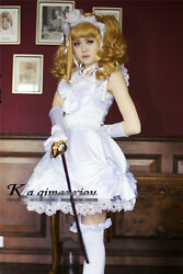 Black Butler Royal Noble Elizabeth White Dress high Quality Cosplay costume
