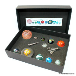 Collectors Solar System Model Orrery Ultimate Marble Collection - Glass Planets