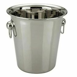 2 x Champagne Ice Bucket Stainless Steel Wine Cooler Bucket 21x 22cm BIG SIZE GBP 14.99