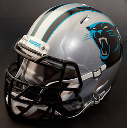 Carolina Panthers Nfl Authentic Gameday Football Helmet W/ S2bdc-tx-lw Facemask