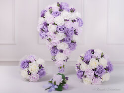 Lilac And Lavender Wedding Flowers Bridal Bouquet Bridesmaids Flower Girl Posy
