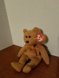 Ty Beanie Curly The Bear Very Rare Pvc With Factory Error, Plus 8 More Errors