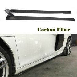 Car Side Skirts Bodykits for Audi R8 08-15 Carbon Fiber Extension Protector Trim