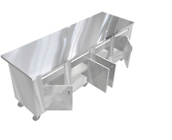 STAINLESS STEEL PREPARATION ISLAND TABLE 30
