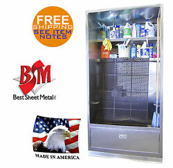 Enclosed Mop Sink 94x42 Stainless Steel Wash Up Cabinet And Shelves Made In Usa