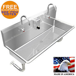 Wash Up Hand Sink 2 Users Multistation 48 Elct. Faucet