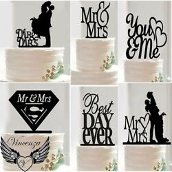 Acrylic Wedding Engagement Anniversary Occasion Party Topper Pick Decoration Uk