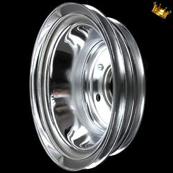 Chrome Crankshaft Pulley 3 Groove For Big Block Chevy 396 427 454 502 With Lwp