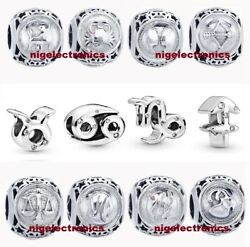 Genuine Authentic Sterling Silver Charm PAN ZODIAC HOROSCOPE STAR Sign S925