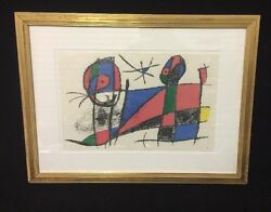 Gilt Framed And Matted Vintage Joan Miro Serigraph