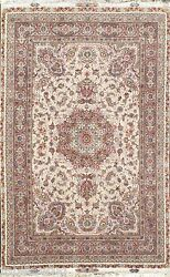 Masterpiece Novinfar Design 60 Raj Persian Rug 9x12 Silk Base Warm Light Color