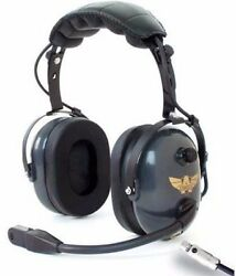 Avcomm General Aviation / Helicopter Combo Headset W/ Flex Boom [ac-747]