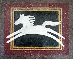 White Abstract Horse Shadow Tile Stone Marble Mosaic AN329