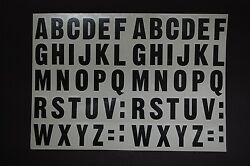 A-z Alphabet Letters Stickers Vinyl Decals X2 Choose 1/2 Up To 12 Inch V461