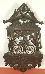 Plafon Wood Carved And Calada. Black Forest. Germany. Century Xix-xx.