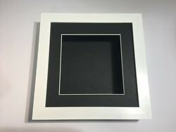 10 X 10 3d Deep Display/craft/casting Frame White -choose From 6 Mount Colours