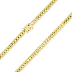 10k Yellow Gold Hollow Miami Cuban Necklace Chain 7.0mm 22-30 -curb Link Men Wm