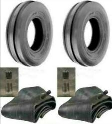 Two New 4.00-19 Tri-rib 3 Rib Front Tractor Tires And Tubes 8n 9n Ford H/d