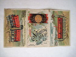 Victorian Trade Card For Sterling Mfg Co W Colored Pictures Of Plowing Equip