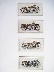 Very Rare Set Of W.d. And H.o. Wills Cigarettes Motorcycle Advertising Cards
