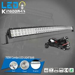 300w 52inch Led Light Bar Curved Flood Spot Combo Truck Roof Driving 4x4 Offroad