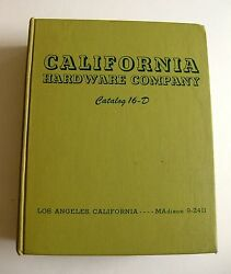 1962 Hardcover California Hardware Company Wholesale Catalog Over 3000 Pages