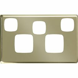 2 X Hpm Brass Cover Plates Excel Double Powerpoint Extra Switch Stainless Steel