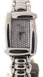 Ladies Henry Dunay Watch In Stainless Steel With .70 Carats Pave Diamond Dial
