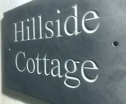 Slate House Sign Name Plaque Engraved Personalised House Sign Modern House Sign