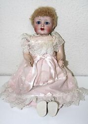 Mu140 Automaton Doll. Porcelain Composition And Suede. Works. 19th Century