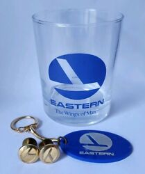Eastern Airlines Uniform/hat Buttons Glass And Keychain Aviation Vintage