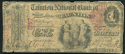 1875 1 The Taunton National Bank In Taunton, Ma National Currency Ch 957 Rare