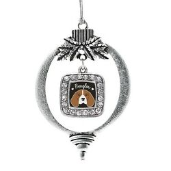 Inspired Silver Beagle Lover Classic Holiday Christmas Tree Ornament