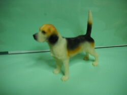 Beagle Black amp; White Dog 3quot; to 4quot; Hand Painted Figurine