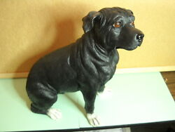 American Staffordshire Terrier 11quot; to 12quot; Hand Painted Dog Figurine