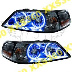 ORACLE Halo HEADLIGHTS Lincoln Town Car 05-08 Non HID BLUE LED Angel Demon Eyes