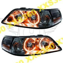 ORACLE Halo HEADLIGHTS Lincoln Town Car 05-08 Non HID AMBER LED Angel D