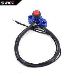 Kke New Cnc Billet Universal Stop Kill Switch Button Dirtbikes Atv Scooter Blue