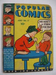Popular Comics 17 G Guide 83 Dick Tracy Moon Mullins Terry And The Pirates