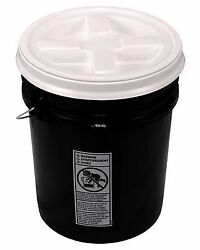 5 Gallon Black Bucket with Gamma Seal Lid $30.00