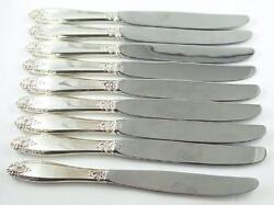 Prelude 1939 By International Sterling - 8 Dinner Knives And 1 Luncheon Knife