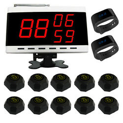 Singcall Wireless Calling Pager Systems 10 Pagers 2 Watches And 1 Display Screen