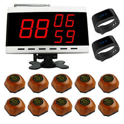 Singcall Wireless Calling Pager Systems 1 Display Screen 10 Pagers, 2 Watches
