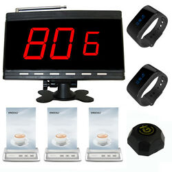 Singcall Wireless Calling System 1 Receiver,2 Watches,3 Table Bells,1 Pager Cafe