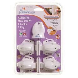 Dreambaby Adhesive Mag Lock Secures Cabinets And Drawers Aus Brand - 4 Or 8 Pcs