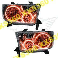 ORACLE Halo HEADLIGHTS for Toyota Sequoia 08-16 AMBER LED Angel Demon Eyes