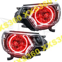 ORACLE Halo HEADLIGHTS for Toyota Tacoma 12-15 RED LED Angel Demon Eyes
